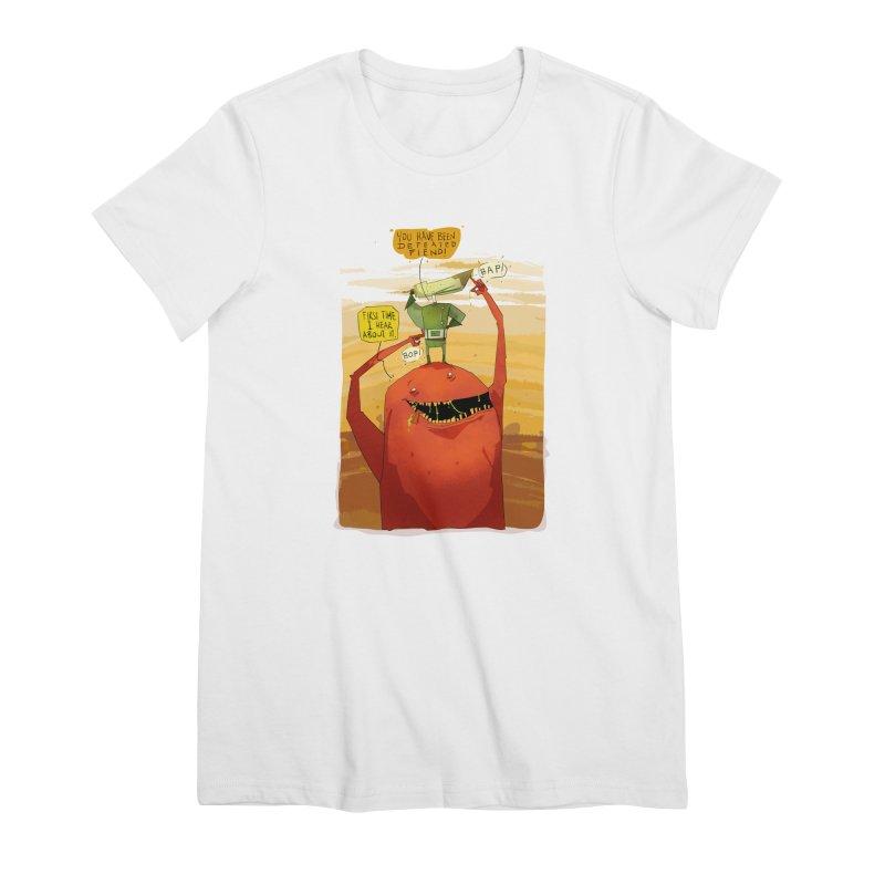 Fiendhunter No1 Women's Premium T-Shirt by viborjuhasart's Artist Shop