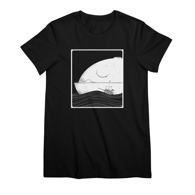 The Great White Women's Premium T-Shirt by viborjuhasart's Artist Shop