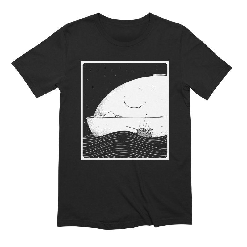 The Great White Men's Extra Soft T-Shirt by viborjuhasart's Artist Shop