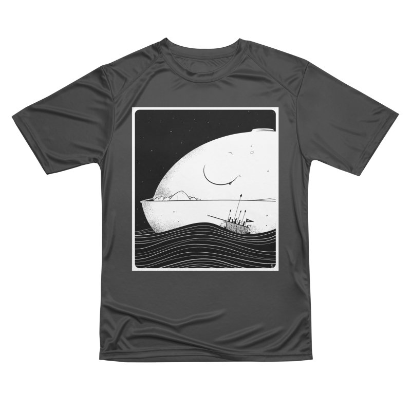 The Great White Men's Performance T-Shirt by viborjuhasart's Artist Shop