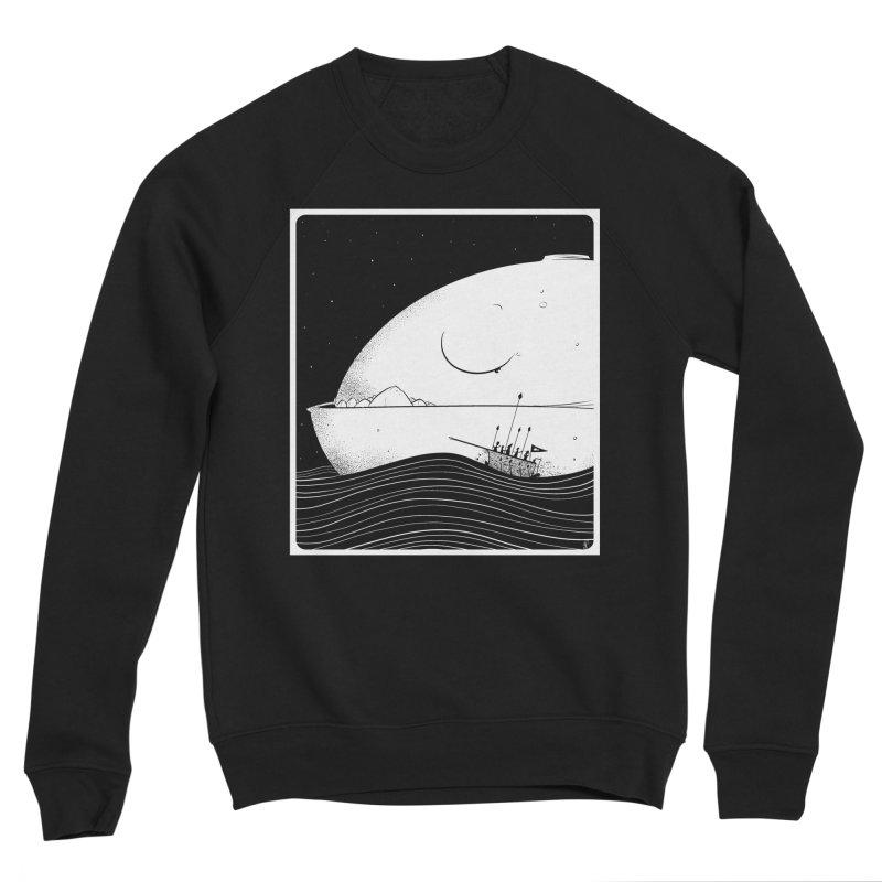 The Great White Women's Sponge Fleece Sweatshirt by viborjuhasart's Artist Shop