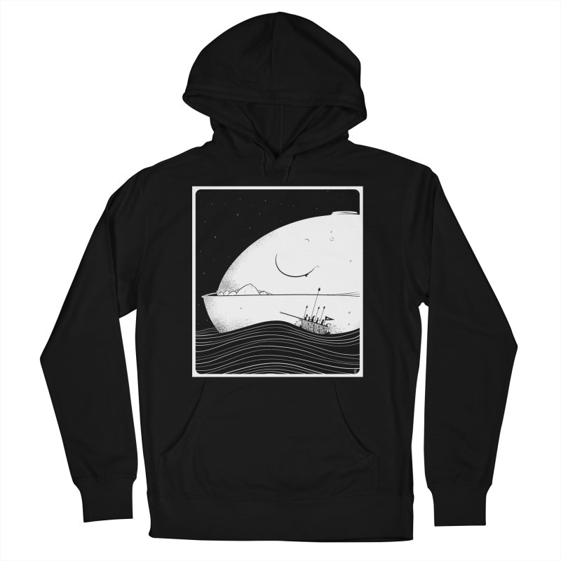 The Great White Men's French Terry Pullover Hoody by viborjuhasart's Artist Shop