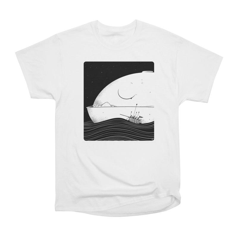 The Great White Women's Heavyweight Unisex T-Shirt by viborjuhasart's Artist Shop