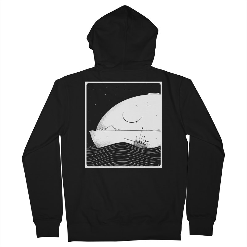 The Great White Women's Zip-Up Hoody by viborjuhasart's Artist Shop