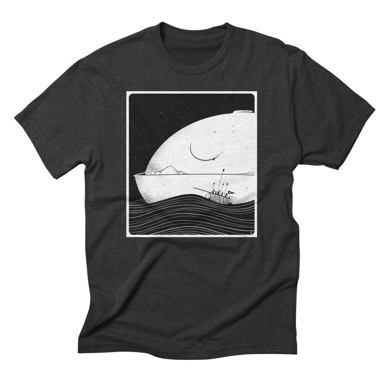 The Great White Men's Triblend T-Shirt by viborjuhasart's Artist Shop