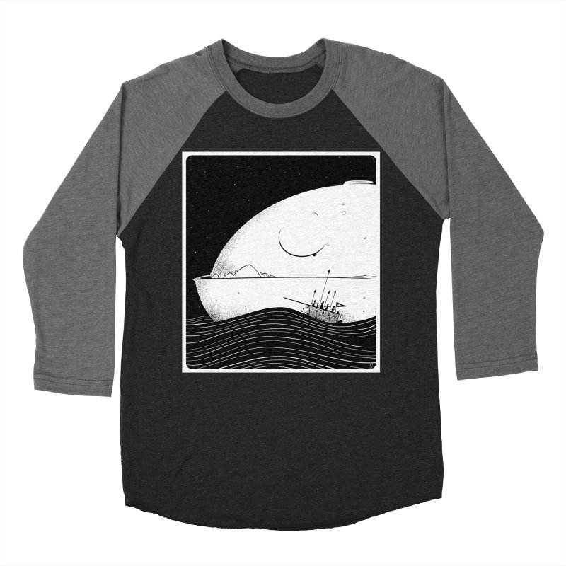 The Great White Women's Baseball Triblend Longsleeve T-Shirt by viborjuhasart's Artist Shop