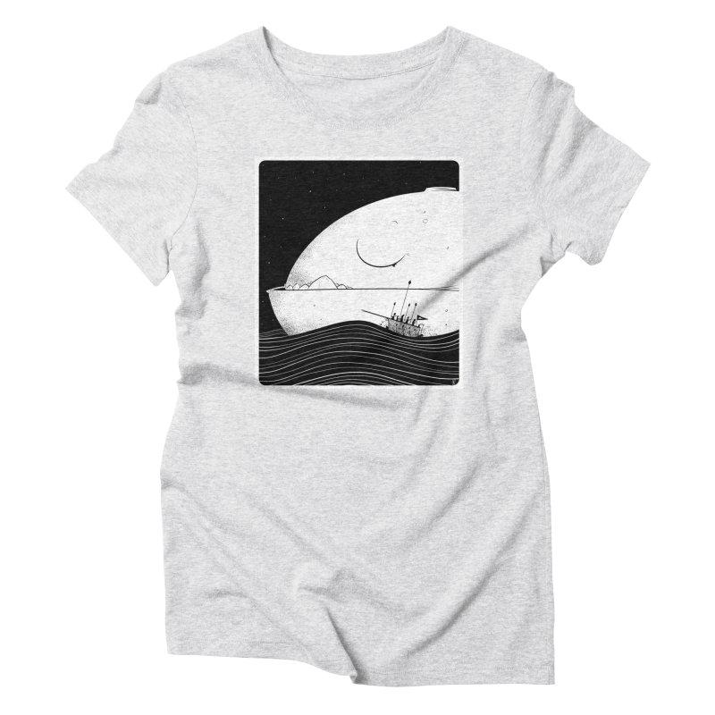 The Great White Women's Triblend T-Shirt by viborjuhasart's Artist Shop