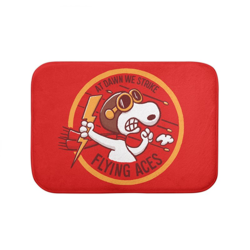 Flying Aces Home Bath Mat by Victor Calahan