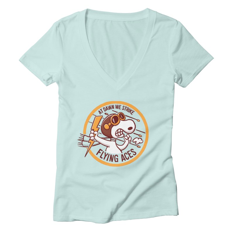 Flying Aces Women's V-Neck by Victor Calahan
