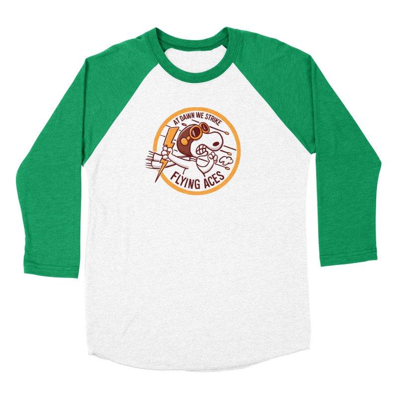 Flying Aces Women's Baseball Triblend Longsleeve T-Shirt by Victor Calahan