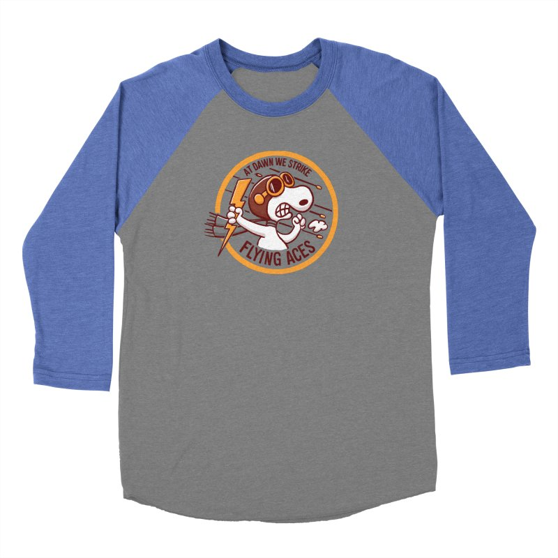 Flying Aces Men's Baseball Triblend Longsleeve T-Shirt by Victor Calahan
