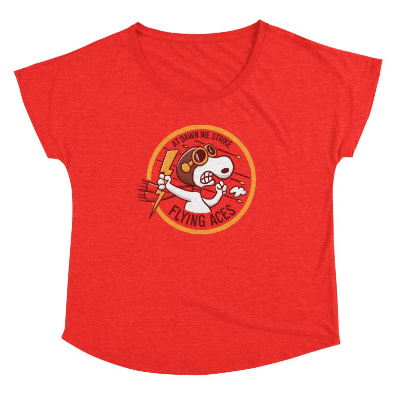Flying Aces Women's Scoop Neck by Victor Calahan