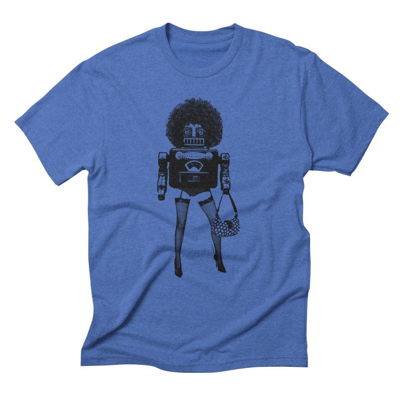 A Tragedy of Obsolescence in Men's Triblend T-Shirt Blue Triblend by Victor Calahan