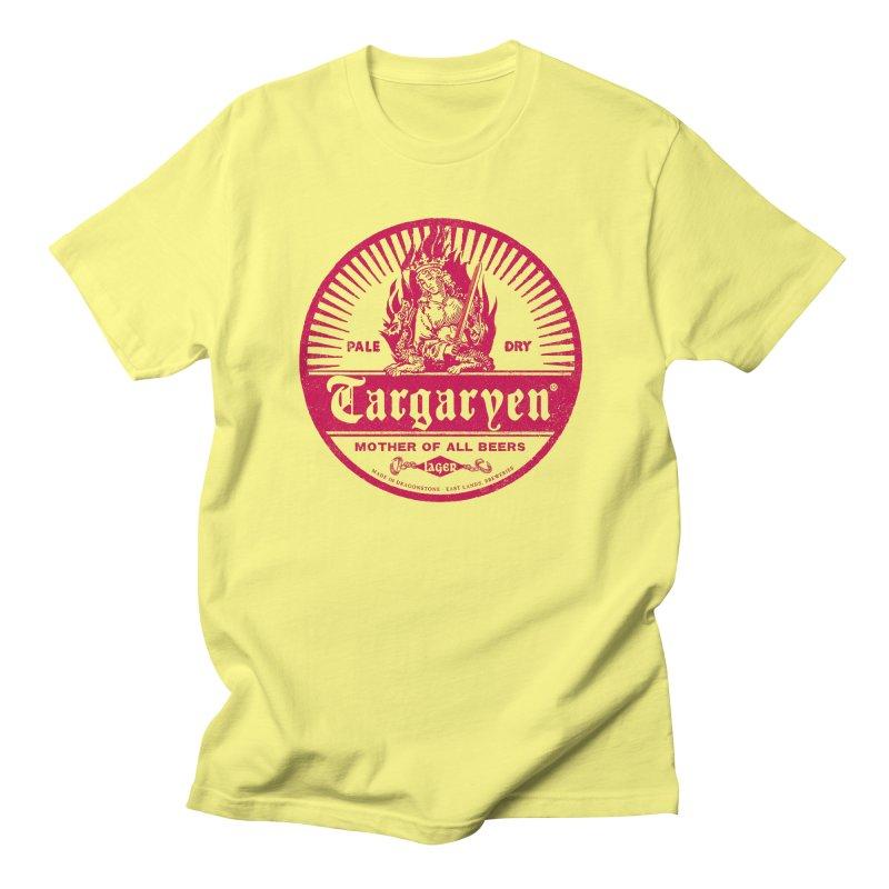 Mother of all beers in Women's Regular Unisex T-Shirt Lemon by Victor Calahan