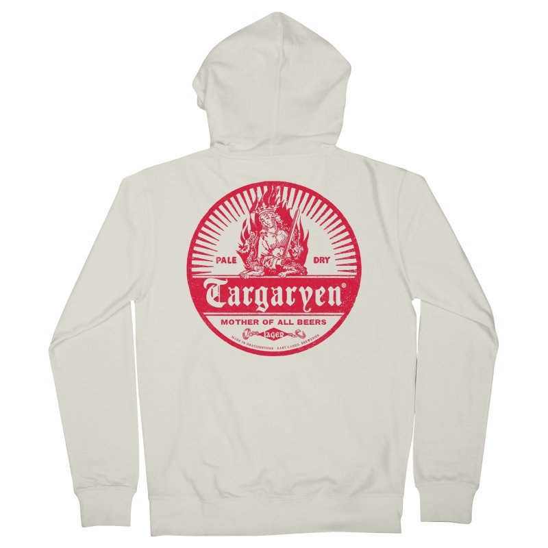 Mother of all beers Men's French Terry Zip-Up Hoody by Victor Calahan