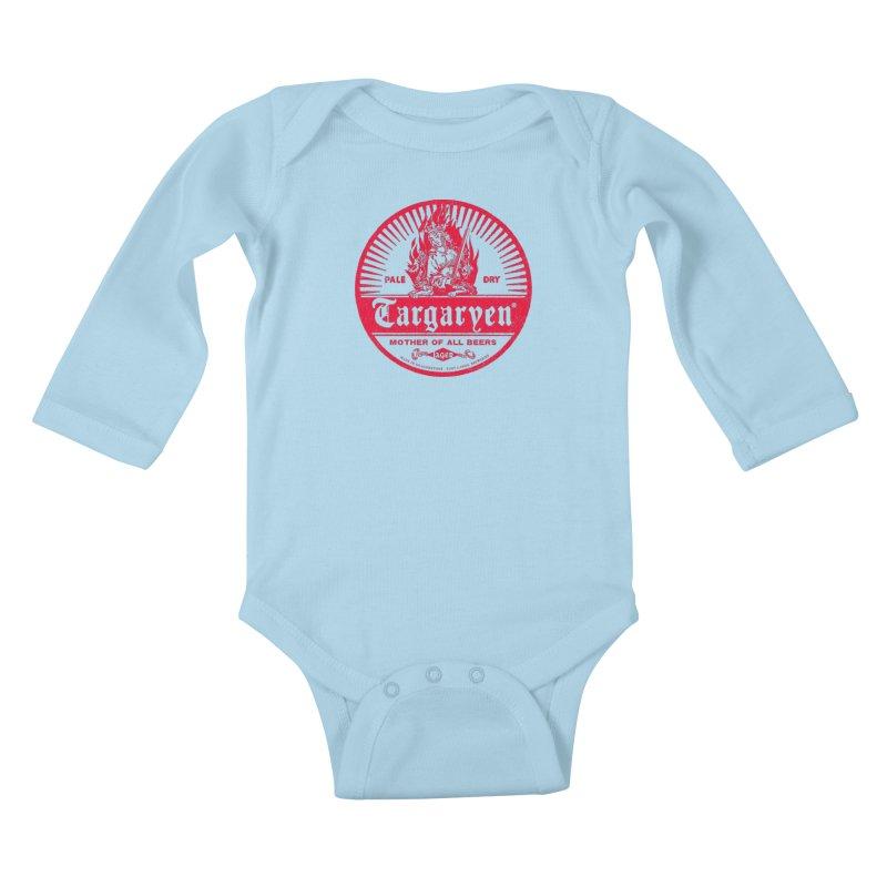 Mother of all beers Kids Baby Longsleeve Bodysuit by Victor Calahan