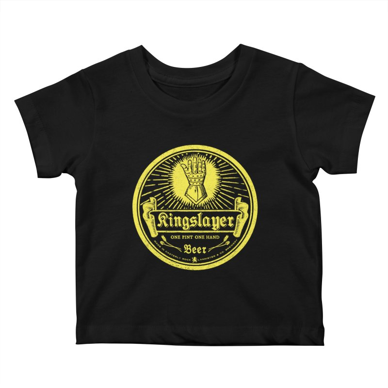 One Hand One Pint Kids Baby T-Shirt by Victor Calahan