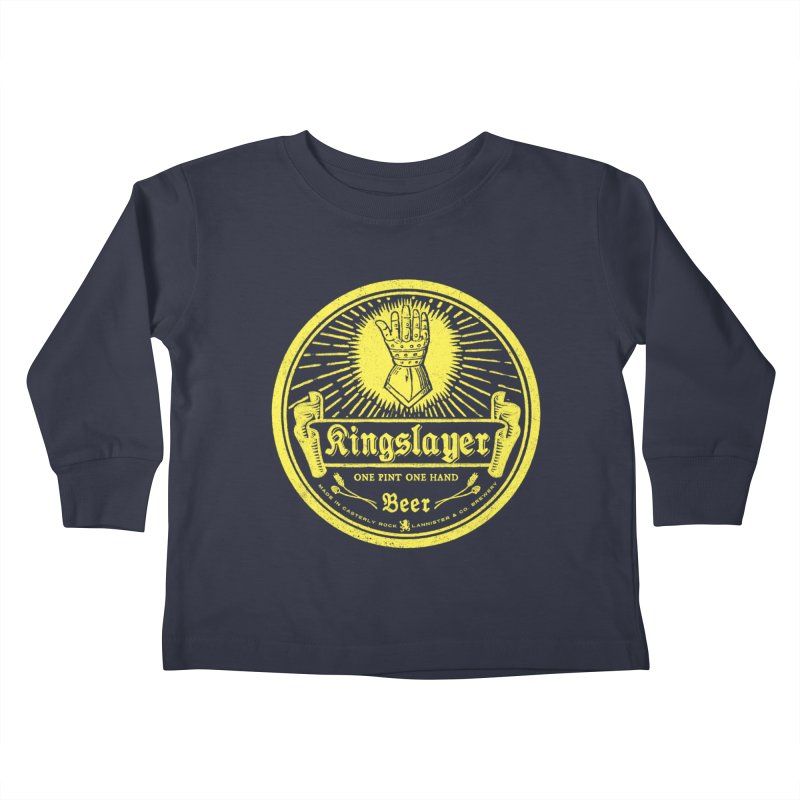 One Hand One Pint Kids Toddler Longsleeve T-Shirt by Victor Calahan