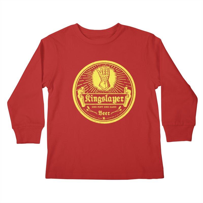 One Hand One Pint Kids Longsleeve T-Shirt by Victor Calahan