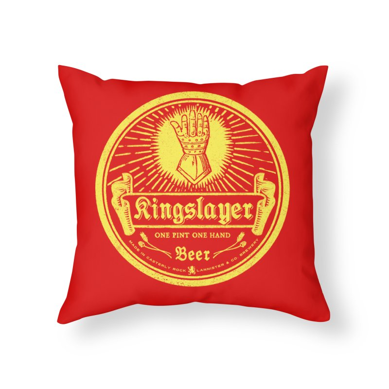 One Hand One Pint Home Throw Pillow by Victor Calahan