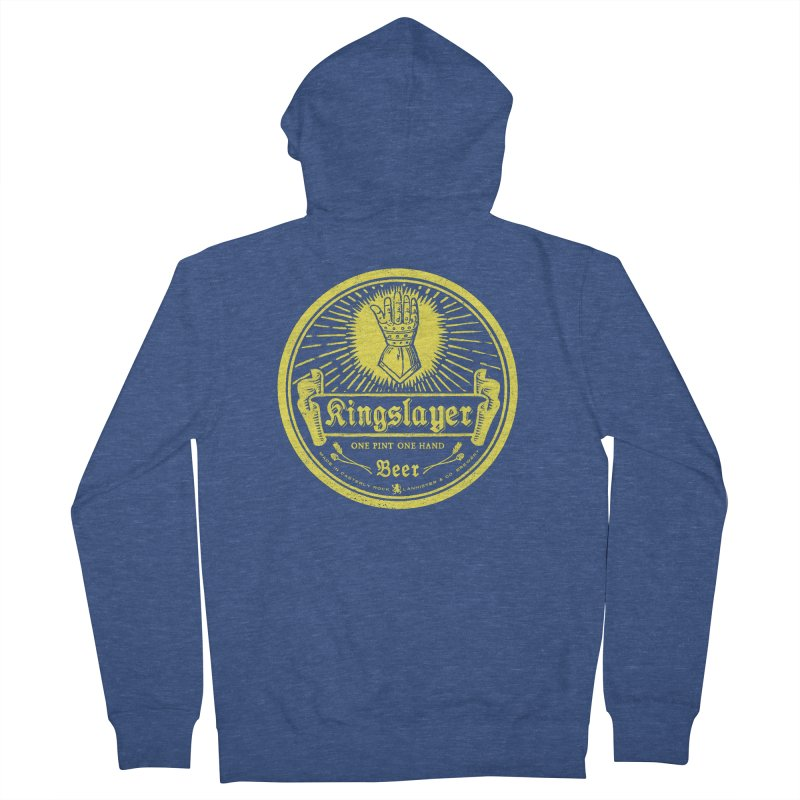 One Hand One Pint Men's French Terry Zip-Up Hoody by Victor Calahan