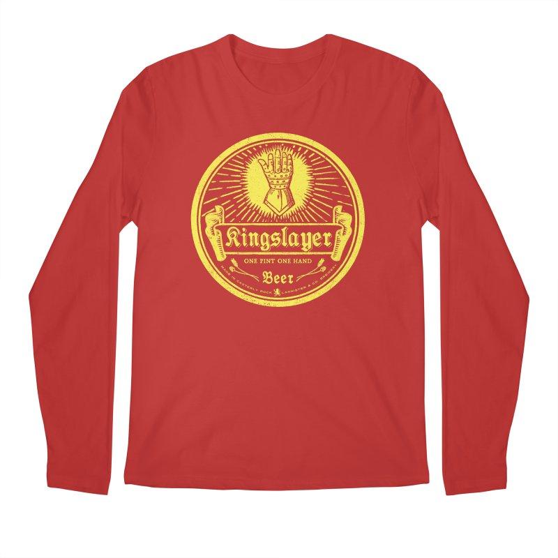 One Hand One Pint Men's Regular Longsleeve T-Shirt by Victor Calahan