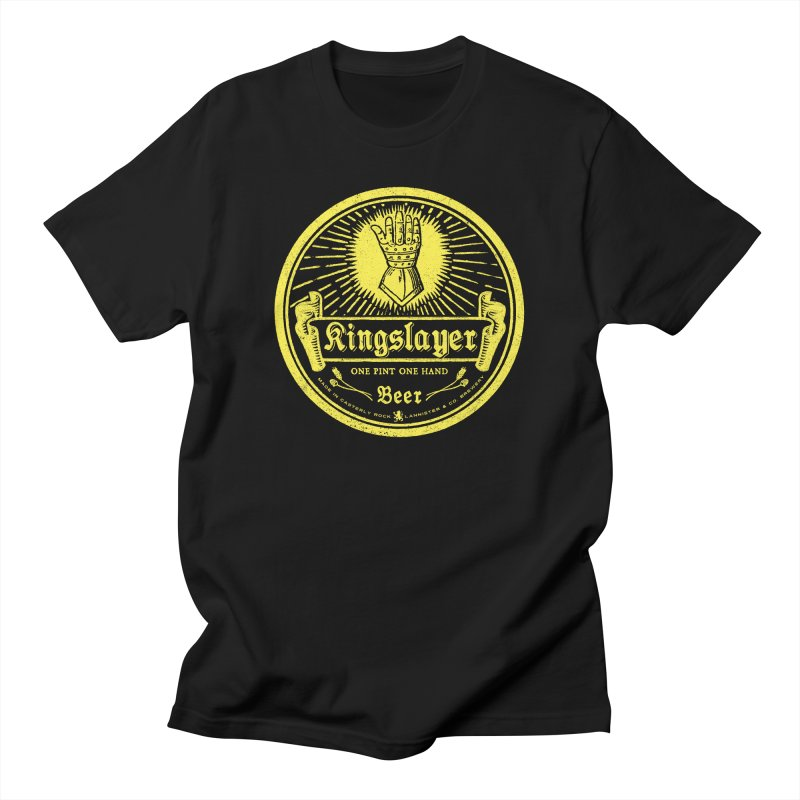 One Hand One Pint Men's Regular T-Shirt by Victor Calahan