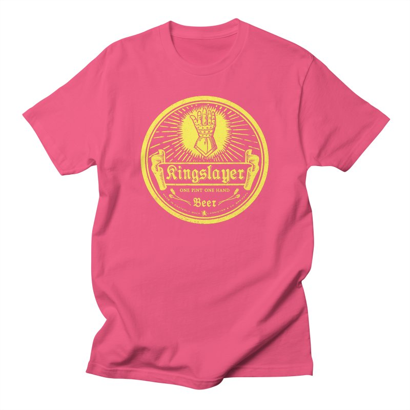 One Hand One Pint Men's Regular T-Shirt by Victor Calahan