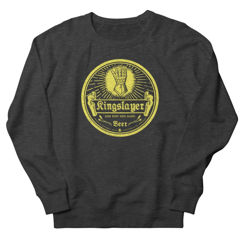 One Hand One Pint Men's French Terry Sweatshirt by Victor Calahan