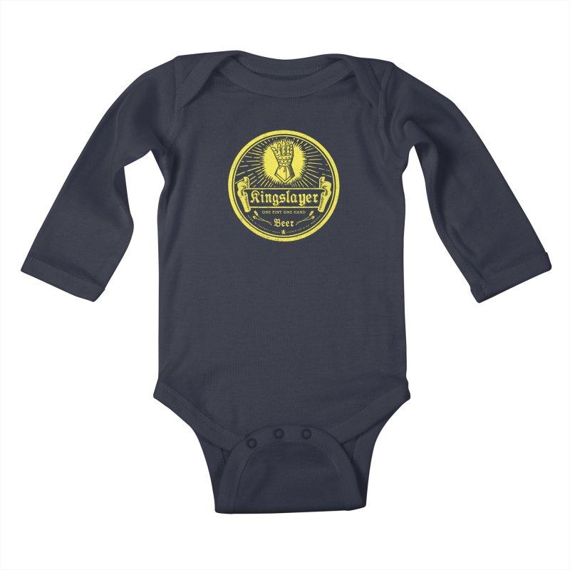 One Hand One Pint Kids Baby Longsleeve Bodysuit by Victor Calahan