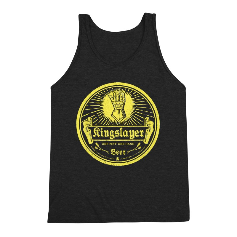 One Hand One Pint Men's Triblend Tank by Victor Calahan