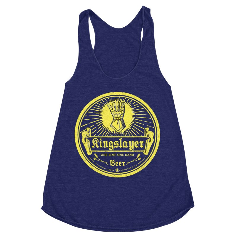 One Hand One Pint Women's Racerback Triblend Tank by Victor Calahan