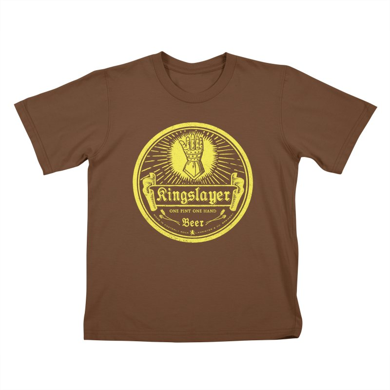 One Hand One Pint Kids T-Shirt by Victor Calahan