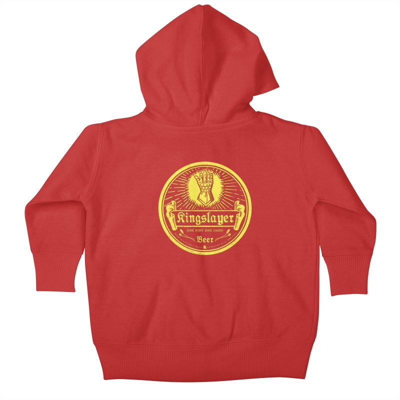 One Hand One Pint Kids Baby Zip-Up Hoody by Victor Calahan