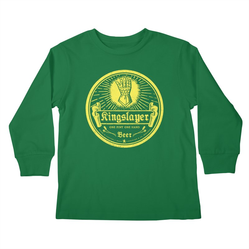 One Hand One Pint Kids Longsleeve T-Shirt by Victor Calahan