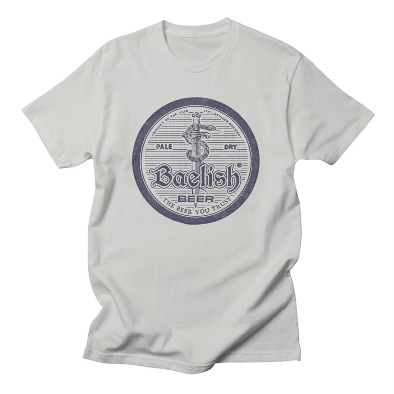 The Beer you Trust in Men's Regular T-Shirt Stone by Victor Calahan
