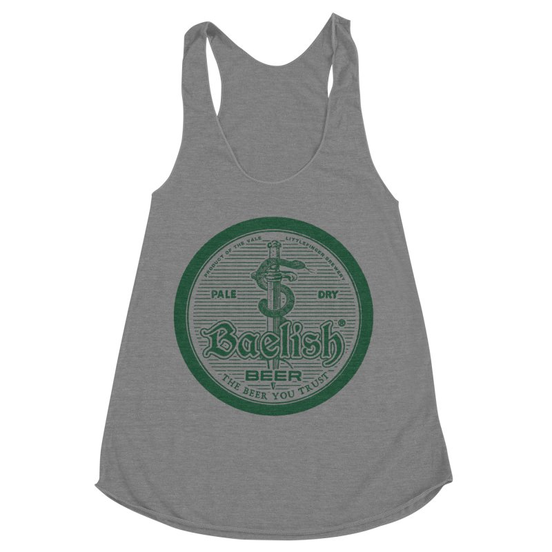 The Beer you Trust Women's Racerback Triblend Tank by Victor Calahan