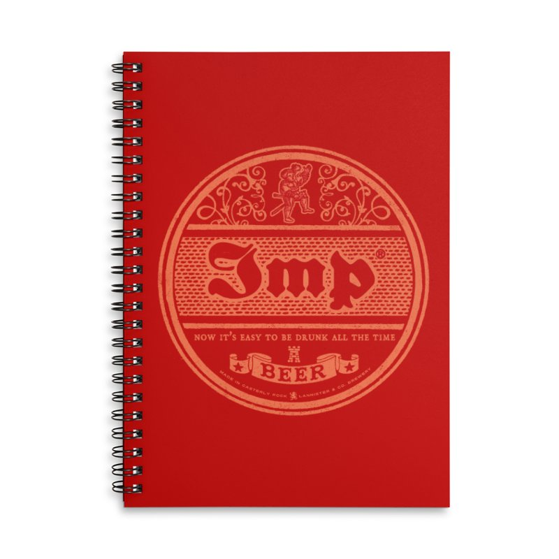 Easy to be drunk Accessories Lined Spiral Notebook by Victor Calahan