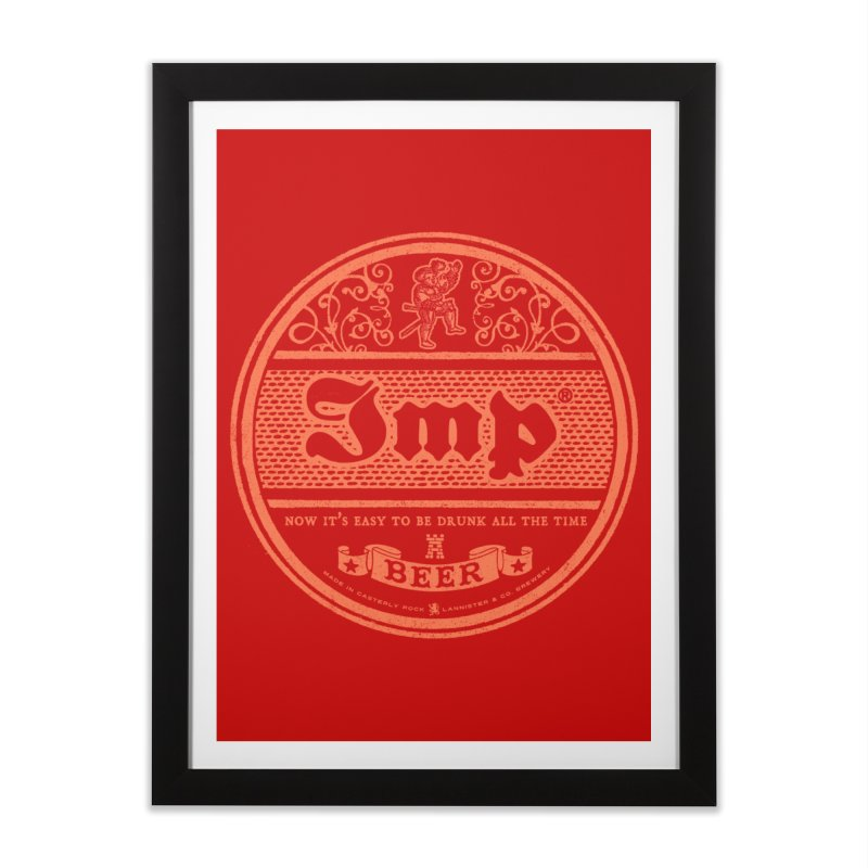 Easy to be drunk Home Framed Fine Art Print by Victor Calahan