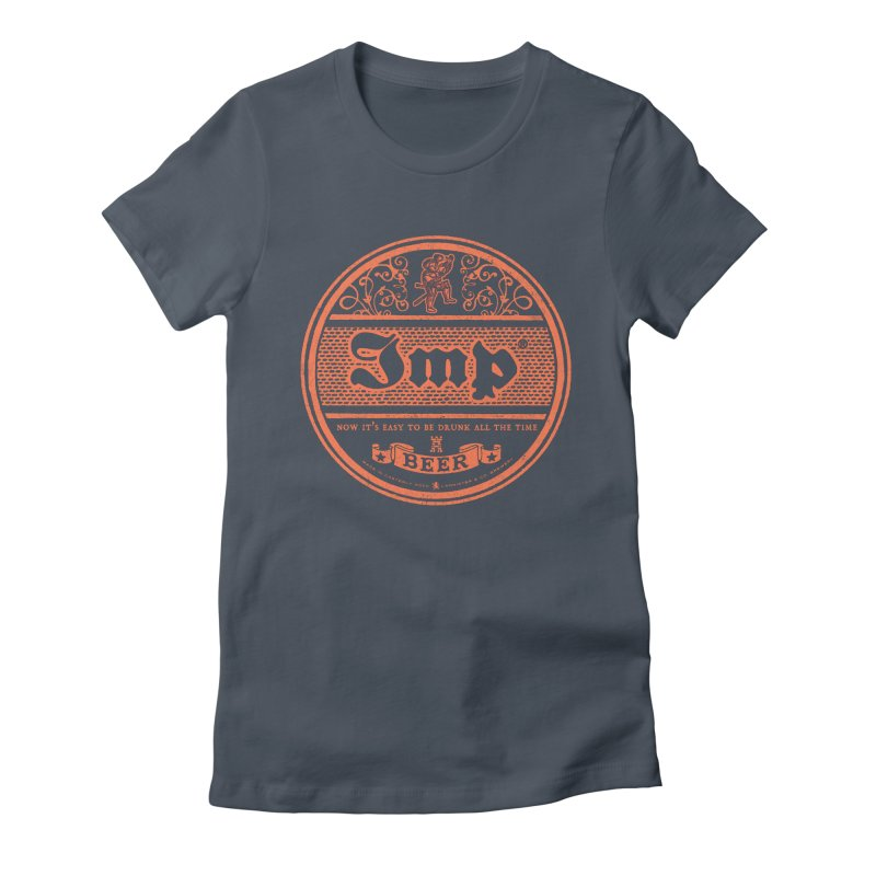 Easy to be drunk Women's Fitted T-Shirt by Victor Calahan