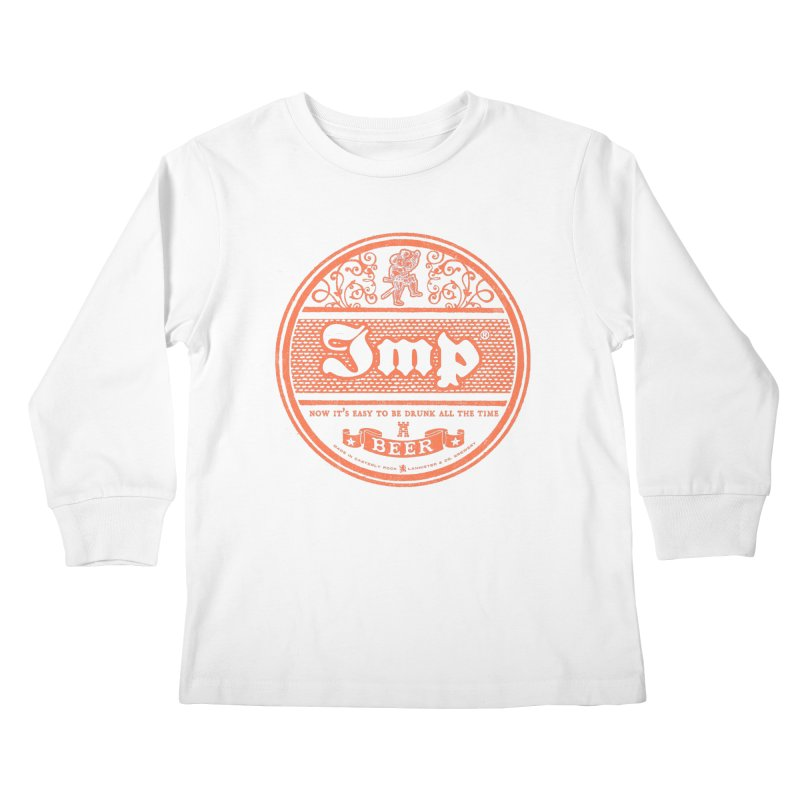 Easy to be drunk Kids Longsleeve T-Shirt by Victor Calahan