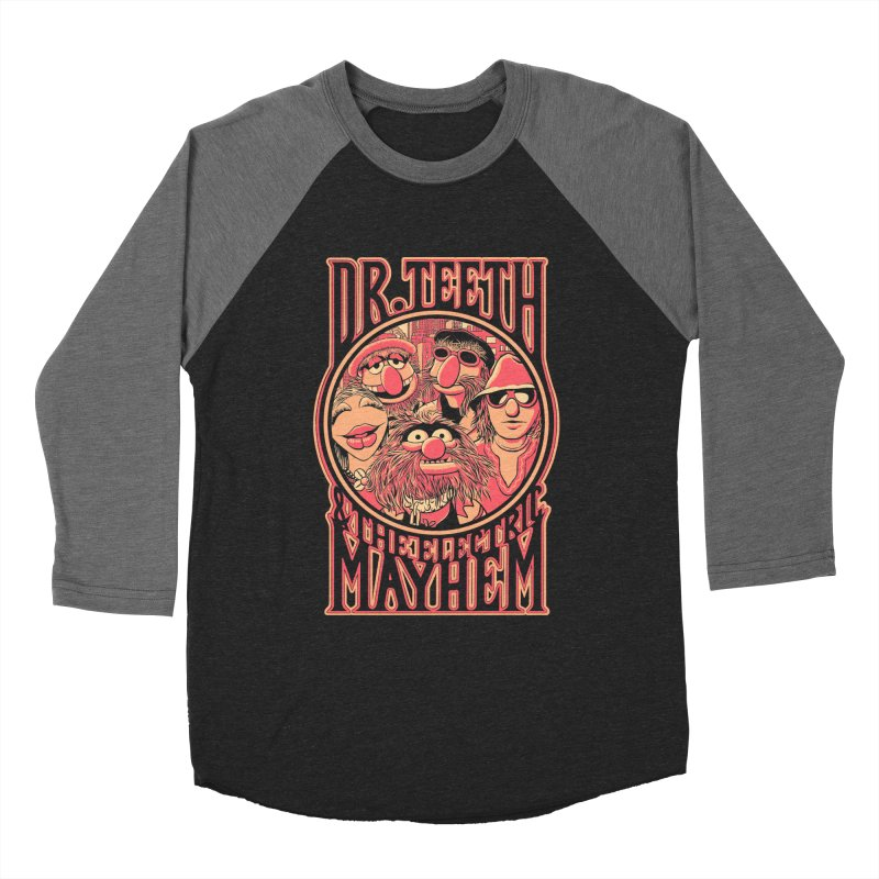 Electric Mayhem Women's Baseball Triblend T-Shirt by Victor Calahan
