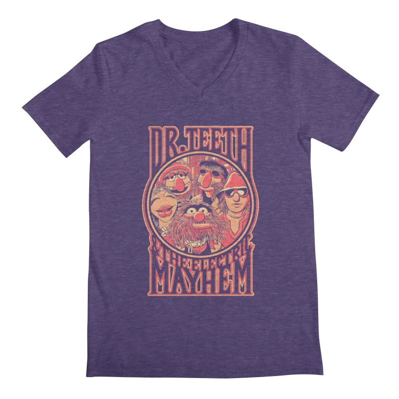 Electric Mayhem Men's V-Neck by Victor Calahan