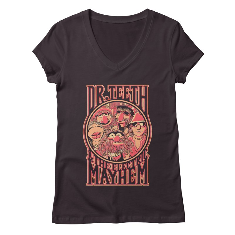 Electric Mayhem Women's V-Neck by Victor Calahan