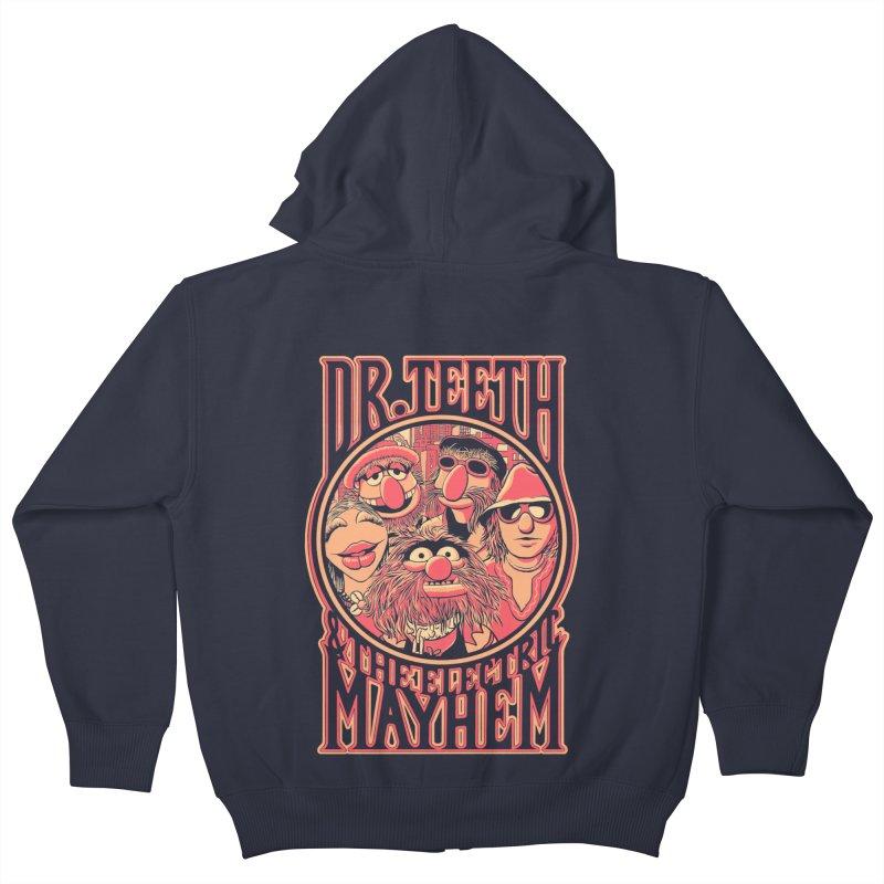 Electric Mayhem Kids Zip-Up Hoody by Victor Calahan