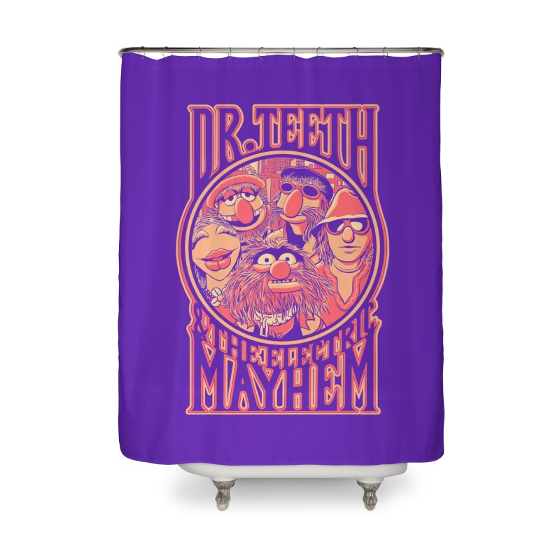 Electric Mayhem Home Shower Curtain by Victor Calahan