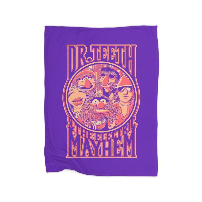 Electric Mayhem Home Blanket by Victor Calahan
