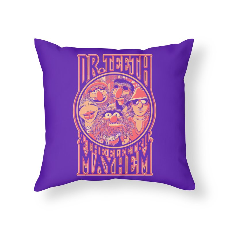 Electric Mayhem Home Throw Pillow by Victor Calahan