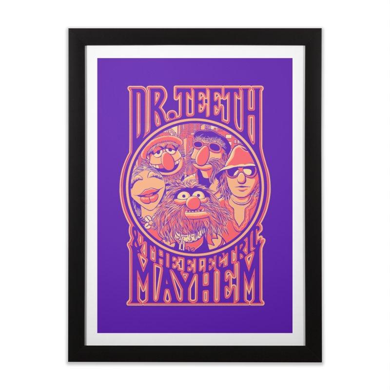 Electric Mayhem Home Framed Fine Art Print by Victor Calahan