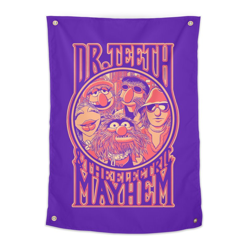 Electric Mayhem Home Tapestry by Victor Calahan